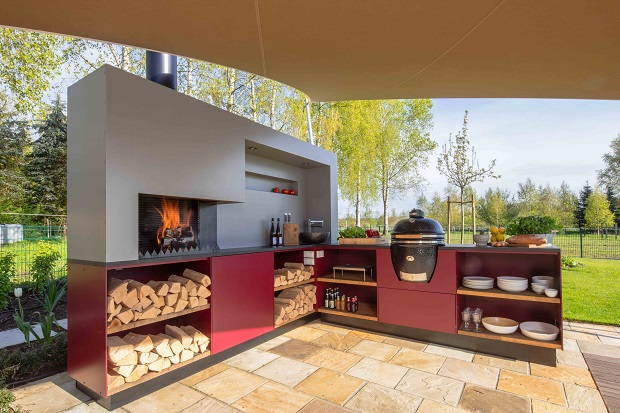cocinar al aire libre conviene una cocina outdoor o una parrilla. Black Bedroom Furniture Sets. Home Design Ideas